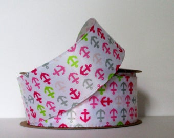 "Anchor Satin Wired Ribbon 1.5 "" wide by the yard"