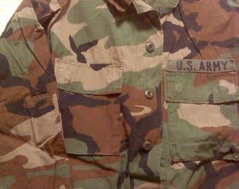 Vintage Army Jacket, US ARMY, Small Jacket, Military Jacket, Military Clothing, Camo