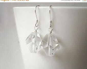 Summer Sale Chunky earrings large bead earrings minimalist earrings clear glass beads