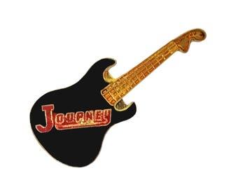 JOURNEY vintage enamel pin button Faithfully Frontiers 1980s rock concert tour