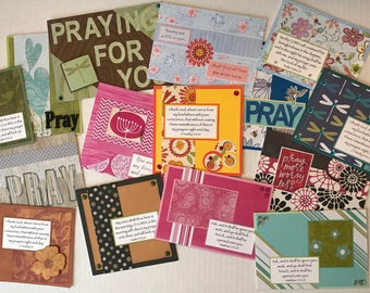 15 Praying For You Cards, Praying For You Cards, Christian Cards, Christian Prayer Cards, Handmade Cards.
