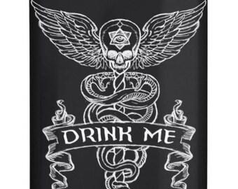 Drink Me Alchemy alcohol hip flask