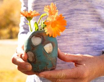 Turquoise Dot Vase