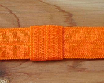 Interchangeable Headband - Orange Elastic Headband - Newborn Headband - Baby Headband - Baby Bows - Elastic Headband - Infant Headband