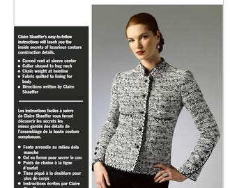 On Sale Vogue Jacket Pattern V8991 by CLAIRE SHAEFFER - Misses' Quilted Stand-Up Collar Jacket - Custom Couture Collection