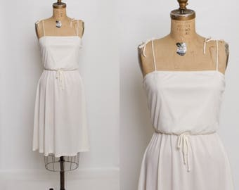 1970s ivory sundress | vintage 1970s summer dress