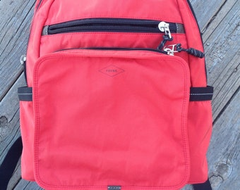 FOSSIL Red Nylon Backpack