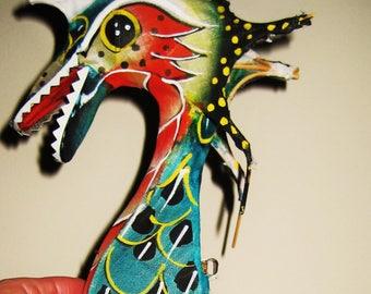 SALE-Handmade mini Dragon Bird silk kite-hand painted
