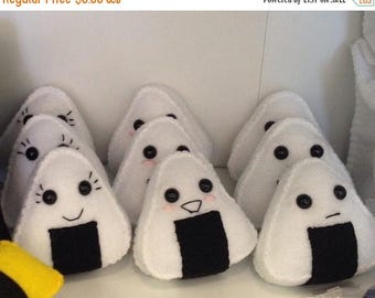 FLASH SALE Felt Onigiri Rice Sushi Plush Toy (your choice of one)
