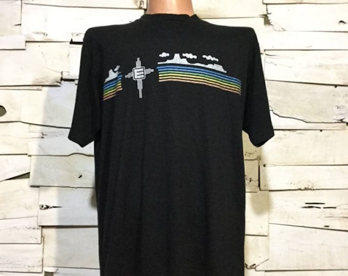 Vintage Rainbow Velva Sheen tee Shirt 80's(os-ts-93)