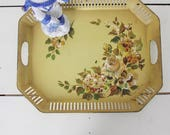 Golden Yellow Toile Tray