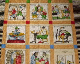 """Handmade-Quilting Treasures """"Fairy Tales""""  Patchwork-Handmade Quilt"""" -Quilt -Lap-Nap-Bed-Throw-MJ Quilts-Made in USA-Free Shipping"""