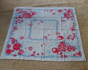 Vintage Linen Tablecloth, Tablecloth