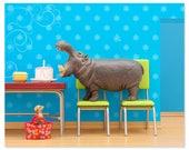 Hippo animal print: Hungry, Hungry Hippo