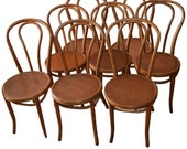 Reserved for Erika: Bentwood Dining Chairs 'Set of Six' of Solid Oak with Plywood Seats from 1947