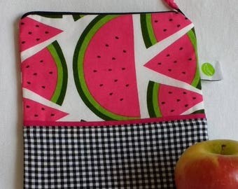 "On Sale Eco friendly Reusable Sandwich Bag - 7.5"" x 7.5""- Food safe PUL lined, Zippered, Machine Washable"