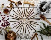 Incense Sample Pack - All Natural Hand Rolled Incense Sticks - 15 Scents/30 Sticks - 2 Of Every Scent, Variety Sampler, Multi Pack, Gift Set