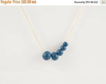 SALE Antalya Porcelain Royal blue Beads,Porcelain And Gold Necklace , 14 KT Gold Fill Fine Chain ,Porcelain Jewelry,Ceramic ,minimalist jewe