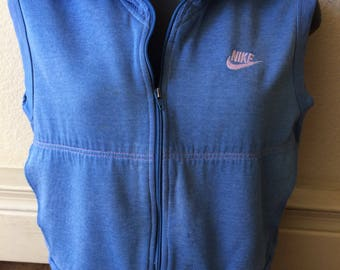 Vintage 1980s Nike track suit warm up zip up vest crop top womens small