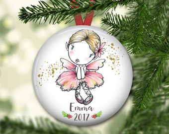 fairy ornament for tree - personalized Christmas ornaments for kids - baby's first christmas ornament - fairy decorations - ORN-PERS-11