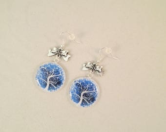 """Winter magic tree"" earrings"