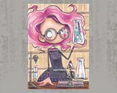 The experiment - Original ACEO, Copic marker drawing