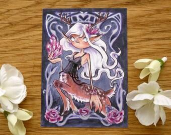 PRINT ACEO - Dark Centaurette