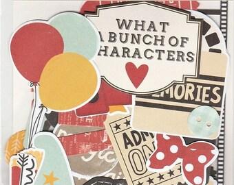 Simple Stories SAY CHEESE III Ephemera Bits & Pieces 53pc Die Cuts Scrapbook Planner Disney Theme
