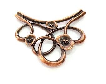 Antique Copper Pendant Antique Copper Plated Pendant (75x50mm) G8289