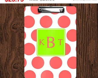 Storewide Sale! Design Your Own Personalized Monogrammed 2-Sided Dry Erase Clipboard - Great Teacher, Coach, Office Gift!
