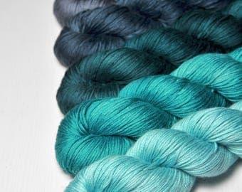 Flawed logic - Gradient of Silk/Cashmere Fingering Yarn