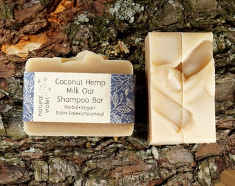 Coconut Milk Shampoo Bar - Solid Shampoo Bar - All Natural Shampoo - Palm Free and Vegan Shampoo - Zero Waste Shampoo Soap