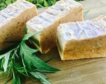 Lavender honey oatmeal soap
