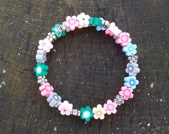 Multi Color Memory Wire Young Girl Bracelet
