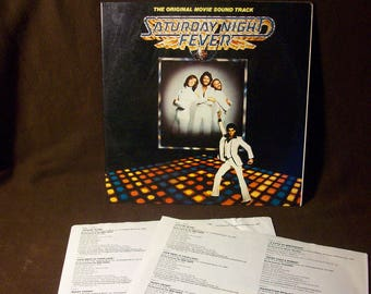 The Bee Gees VG+ - Saturday Night Fever - Rare British Original Edition - Vintage lp in VG+ to VG++ Condition