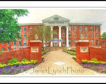Danville VA Virginia - Averett University - Main Hall - College - Fine Art Photography prints by Janet Lynch