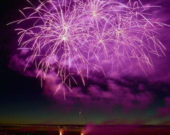Fireworks  Photography - Fireworks - July 4th - Photo Art - Lopez Island - San Juan Islands - holliday - 16 X 20- wall art - prints