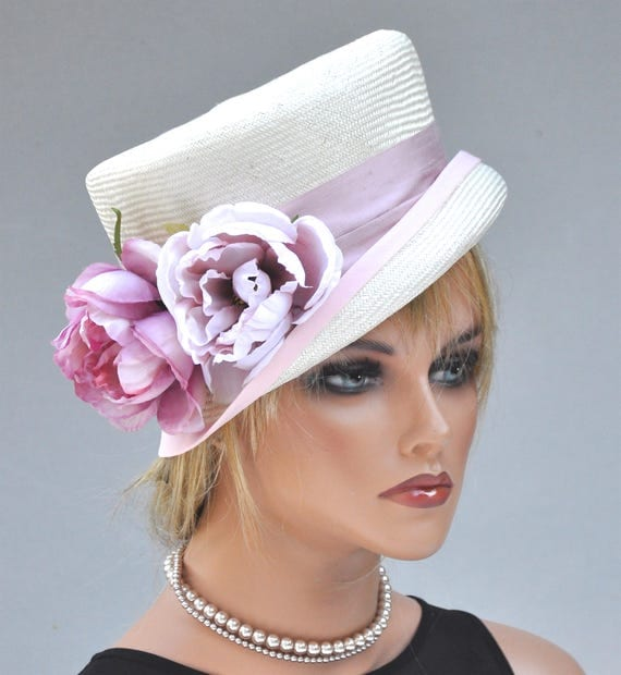 Wedding Hat, Kentucky Derby Hat, Pink Hat, Formal Hat, Special Occasion Hat