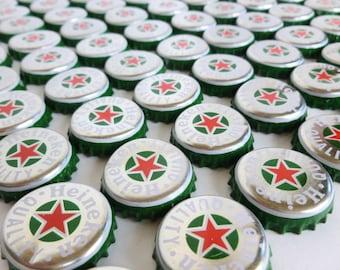 Heineken Beer Bottle Caps Lot of 200 Bulk Art Craft Supplies Destash Upcycle Recycle