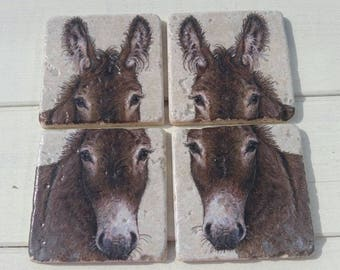 Donkeys Set of 4 Tea Coffee Beer Coasters