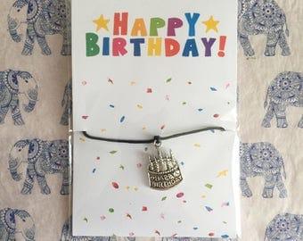 Happy Birthday - Cake Friendship Bracelet