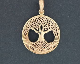 Celtic Tree of Life Pendant in Antique Bronze
