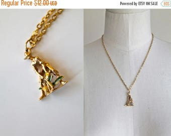 20% off SALE vintage charm necklace - PINEAPPLE FARMER novelty jewelry pendant