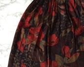 50% OFF SALE... red azaleas skirt | 60s mini skirt