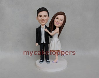 personalized wedding cake topper, custom wedding cake topper, make from your photos look like you, unique cake topper