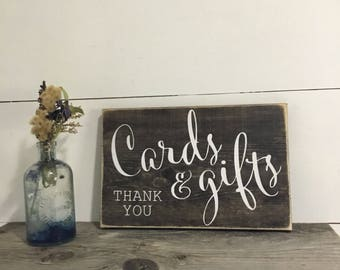 Wedding Cards and Gifts Sign- Wood Wedding Sign - Wedding Reception Sign - Rustic Wedding Sign - Wedding Signs - Wedding Gift Table Sign