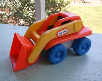 Little Tikes Chunky People Toddle Tots Loader Bulldozer 1988