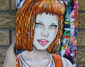 Leeloo Fifth Element   - Archival Fine Art Print 11x14 Art Fanart Gift