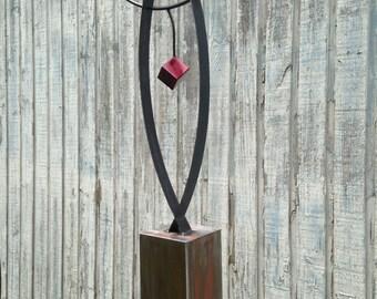 Abstract Metal art  indoor/outdoor garden sculpture   by Holly Lentz