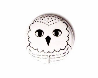 Hedwig Pinback Buttons Geeky Owl Accessories